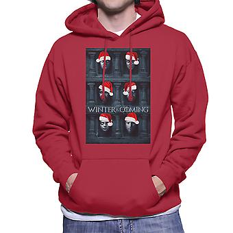 Winter Is Coming Game Of Thrones Faces Christmas Men's Hooded Sweatshirt