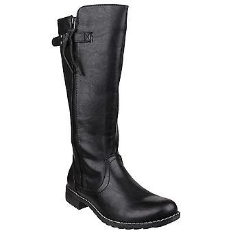 Divaz Womens Bari Zip Up Boot Black