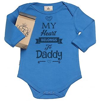 Spoilt Rotten Heart Belongs Daddy Organic Babygrow In Gift Milk Carton