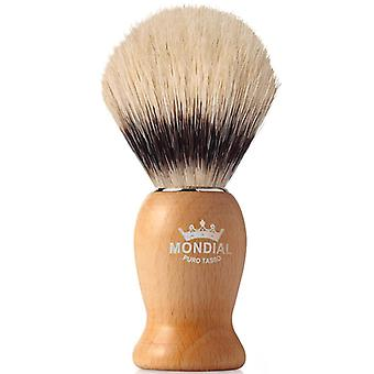 Mondial 1908 Boar Bristle Shaving Brush Wood