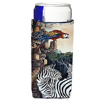 Las cebras y los aisladores de bebida Ultra loros para latas de slim