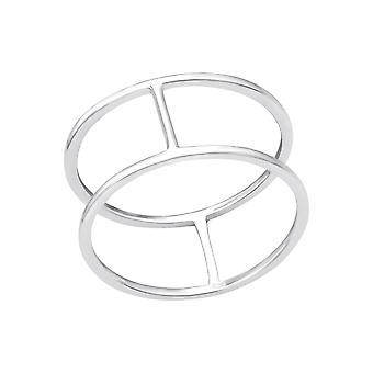 Dubbele lijn - 925 Sterling Zilver platte ringen - W33821X