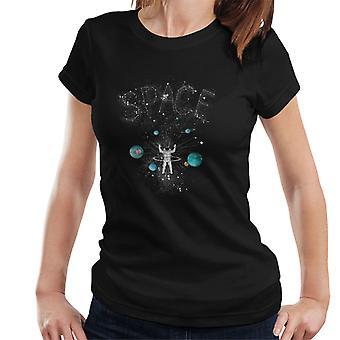 Astronaute de l'espace et des planètes femmes T-Shirt