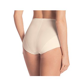 Rosa Faia 1712-047 Women's Lace Rose Champagne Off White Full Panty Girdle Highwaist Brief