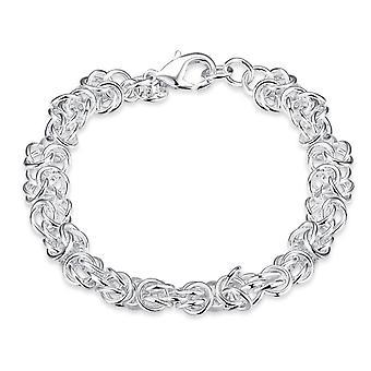 Dame damer indviklede sølv forgyldt kæde armbånd med Lobster clasp karabinlås tæt
