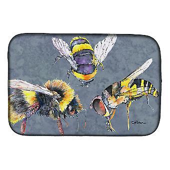 Carolines Schätze 8879DDM Biene Bienen Mal, die drei Teller trocknen Matte