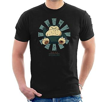 Snorlax Retro Japanese Pokemon Men's T-Shirt