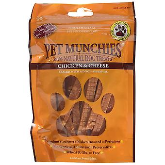 Pet Munchies Natural Dog Treats Chicken Breast with Cheese 100 g, Pack of 8