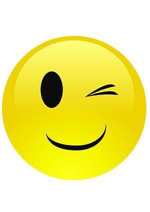 Smiley Augenzwinkern Emoji Maske | Fruugo LU