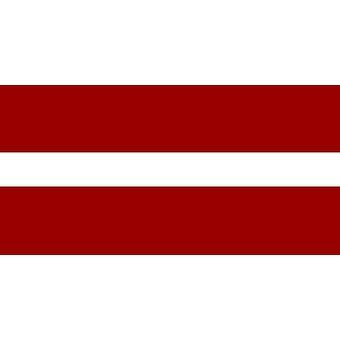 Letland vlag 5 ft x 3 ft met oogjes voor verkeerd-om