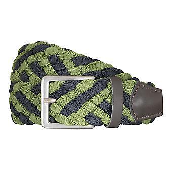 BRAX belts men's belts textile woven belt green/blue 5407