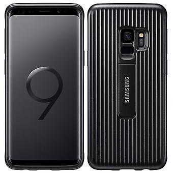 Samsung beskyttende stående dekke EF RG960CBE for Galaxy S9 G960F bag tilfelle svart