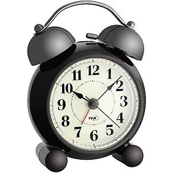 TFA Dostmann 60.1014 Quartz Alarm clock Dark brown Alarm times 1