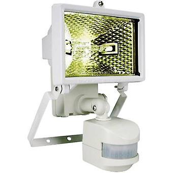 Outdoor floodlight (+ motion detector) HV halogen 120 W R7s White