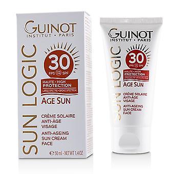 Guinot Sun Logic Age Sun Anti-ageing Sun Cream For Face Spf 30 - 50ml/1.7oz