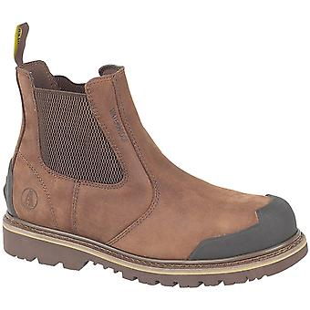 Amblers Steel FS225 Mens Nubuck Dealer Safety Work Boots Brown