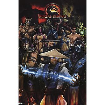 Mortal Kombat - ryhmän Juliste Tulosta