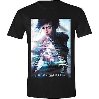 Fantasma nella locandina del film di guscio t-shirt