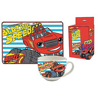 Gift set Cup and Breakfast Placemat Blaze