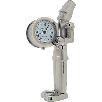 Cadeau produits Toy Soldier horloge Miniature - Silver