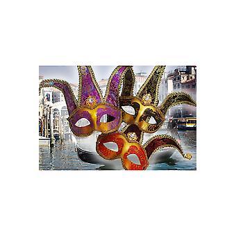 Máscara Veneciana de máscaras roja