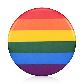 TRIXES Rainbow Badge - Pride LGBT and Festivals - Rear safty pin fastening - Show support and diversity
