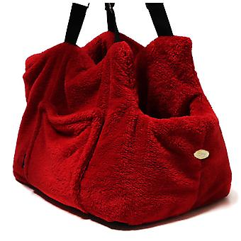 "Dog Carrier ""Teddy Bear"" Office and Travel Red"