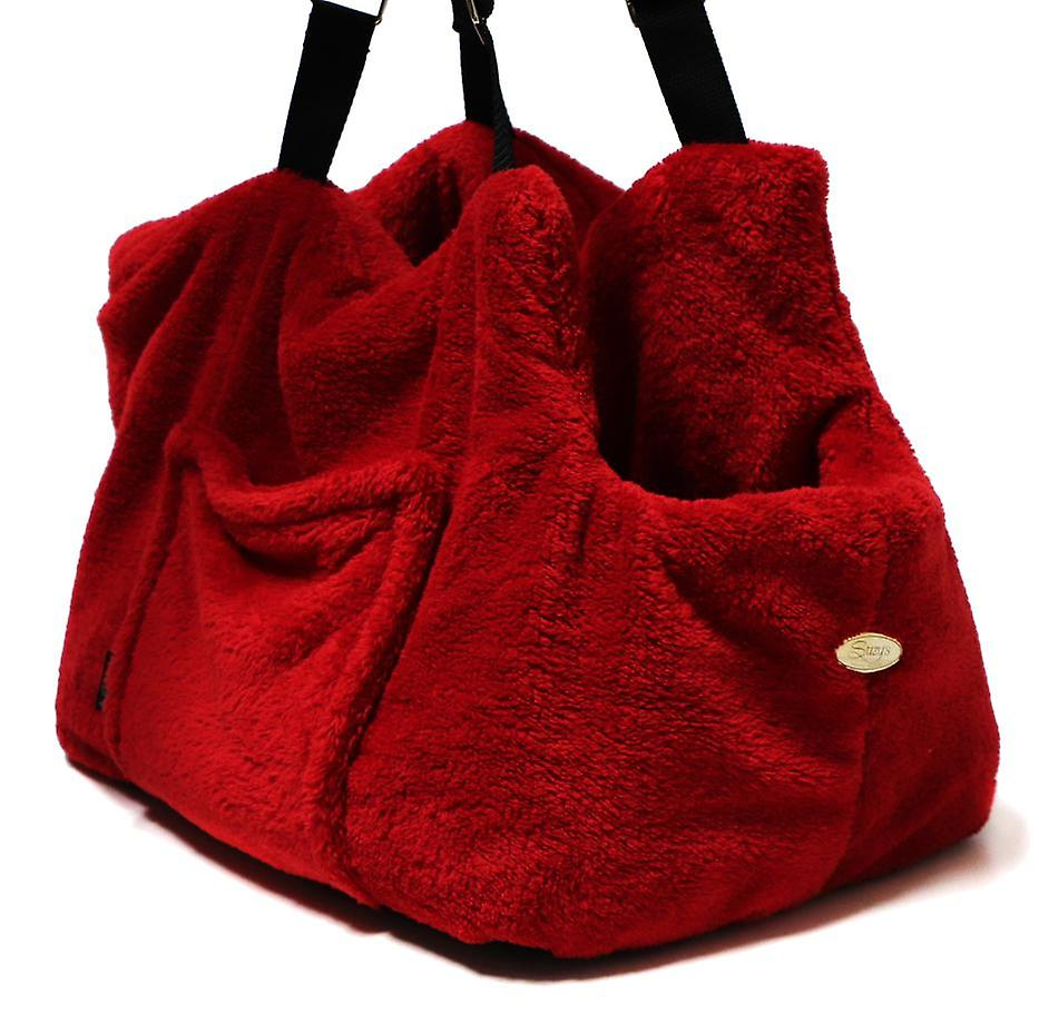 """Dog Carrier """"Teddy Bear"""" Office and Travel Red"""