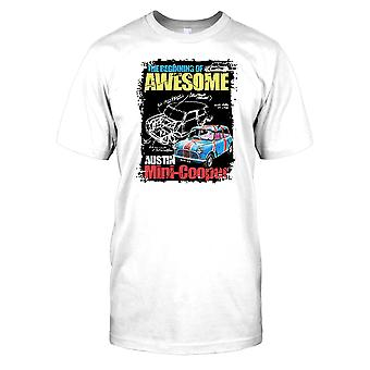 The Awesome Mini Cooper - British Classic Car Kids T Shirt