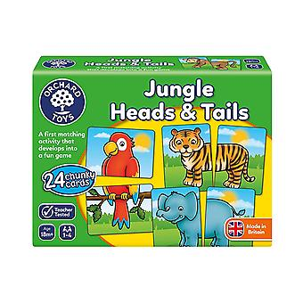 Orchard Toys Jungle huvuden och svansar spel