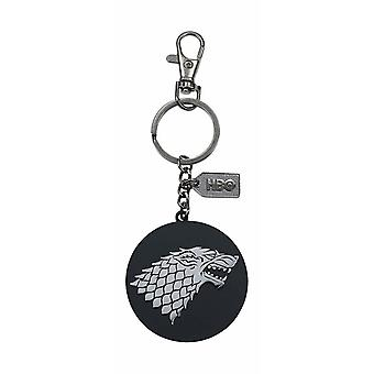 Game of Thrones Metal Keychain Stark Silver Logo Nyckelring