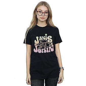 Janis Joplin Women's Pastel Logo Boyfriend Fit T-Shirt