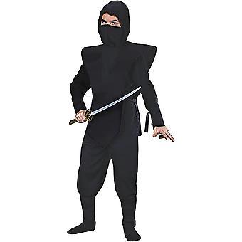 Sorte Ninja soldat barn kostume