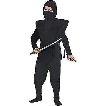 Svart Ninja soldat barn kostym