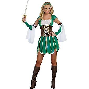 Groene Warrior volwassen kostuum