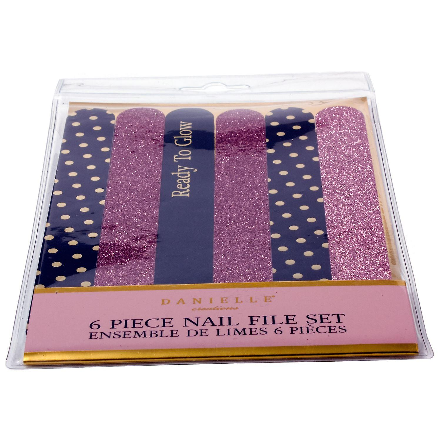 Danielle Creations 6 Piece Nail File Set - Ready to Glow
