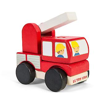 Le Toy Van Cars & Construction Fire Engine Stacker