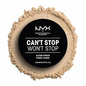 NYX PROF. MAKEUP kan ' t stoppen ' t stopzetting instelling poeder-licht/medium