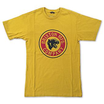 Brixton Forte T-Shirt Nugget Gold