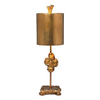 Elstead-1 könnyű asztali lámpa-Gold Leaf-FB/CROSS/TL GD