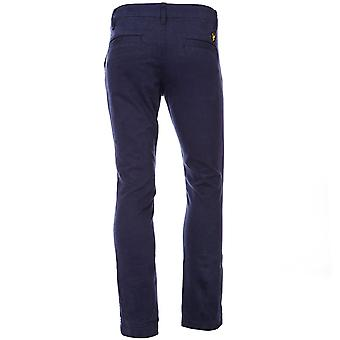 Kleinkind Lyle And Scott Chino Pant In Blue-Zip Fly-Belt Loops To Waist-