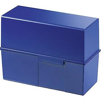HAN 975-14 Card index box Blue No. of cards (max.): 500 cards A5 landscape Lid usable as a tray