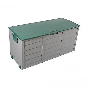 Meubilair Rebecca Box Baule tuin groen garage 290 lt plastic 2 wielen 52x112x49