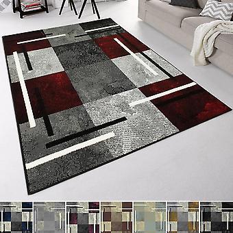 Modern Short Flower Design Carpet Bakaro Marble Plate Look
