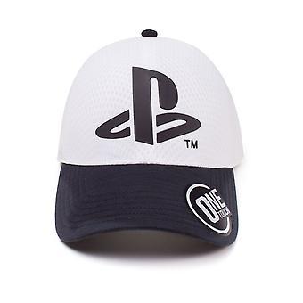 Sony PlayStation logo buet Bill baseball cap hvit en størrelse (TC387805SNY)