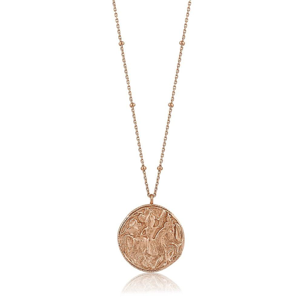 Ania Haie Rose Gold Plated Sterling Silver Coins 'Greek Warrior' Necklace