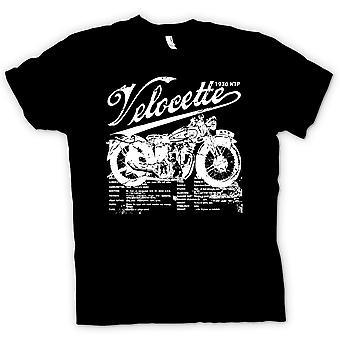 Womens T-shirt - Velocette KTP 1930 - Classic Bike