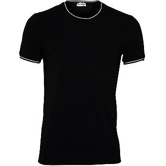 דולצ ' ה & גבאנה ספורט פימתיחה כותנה חולצת טריקו, שחור