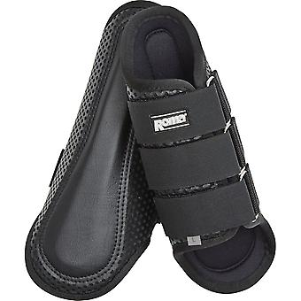 Roma Air Flow Shock Absorber Splint Boots - Black