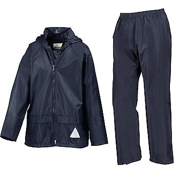 Result - Junior Kids Waterproof Jacket And Trouser Set - School